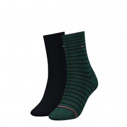 Woman Streifen/uni Damen-Socken