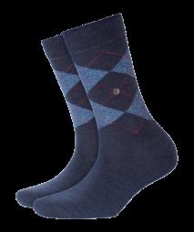 Damen Socken Karo mit Lurex