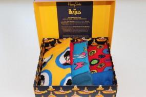 The Beatles Limited Edition 50 Jahre HappySocks Geschenkbox 3er