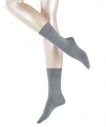 Damen Socke Basic Doppelpack Rollrand